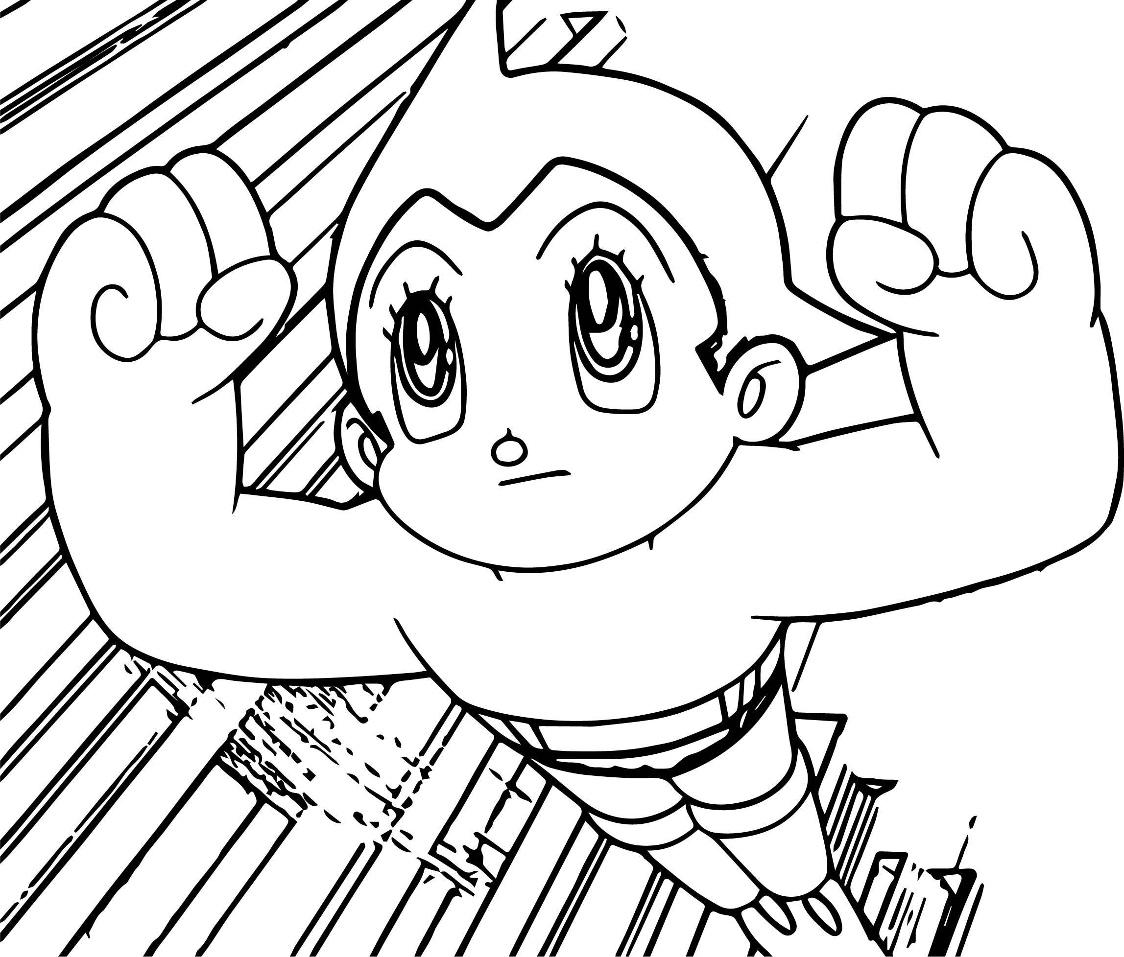 Cool Atom Astro Boy Coloring Page Coloring Pages For Boys Coloring Pages Astro Boy