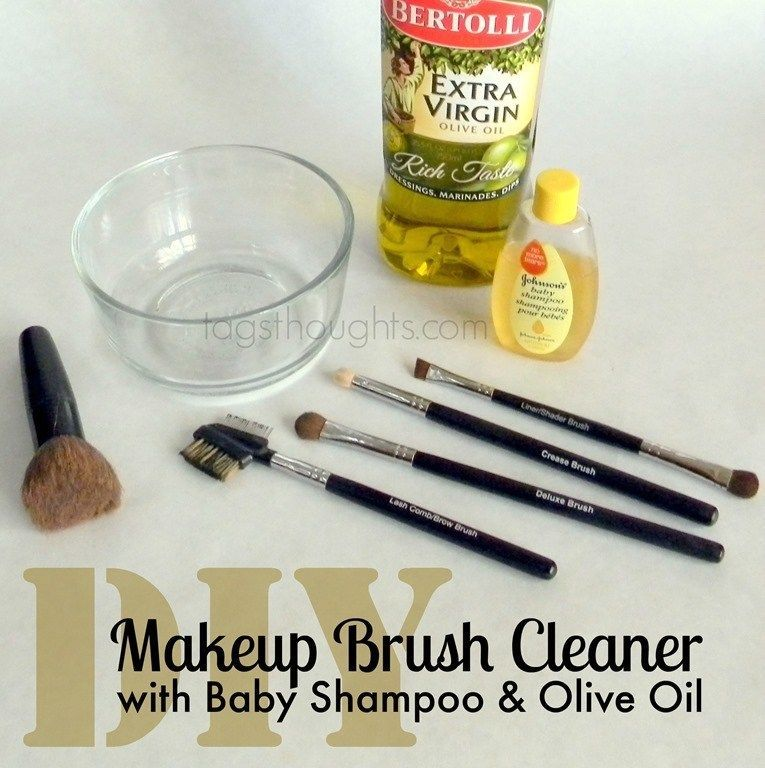 Photo of DIY makeup brush cleaner; With baby shampoo and olive oil – DIY makeup brush …
