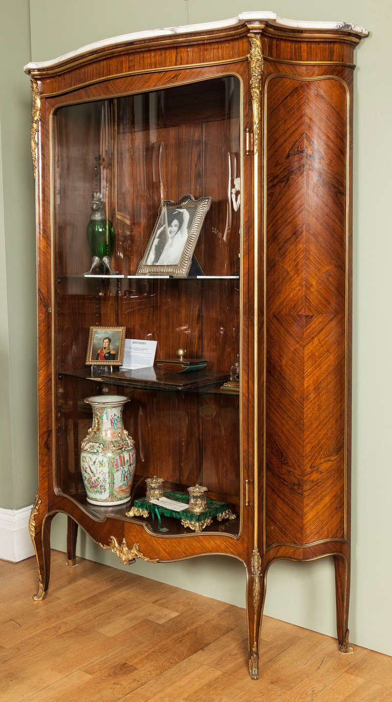 A French Antique Vitrine - A French Antique Vitrine French Antiques, Furniture Storage And