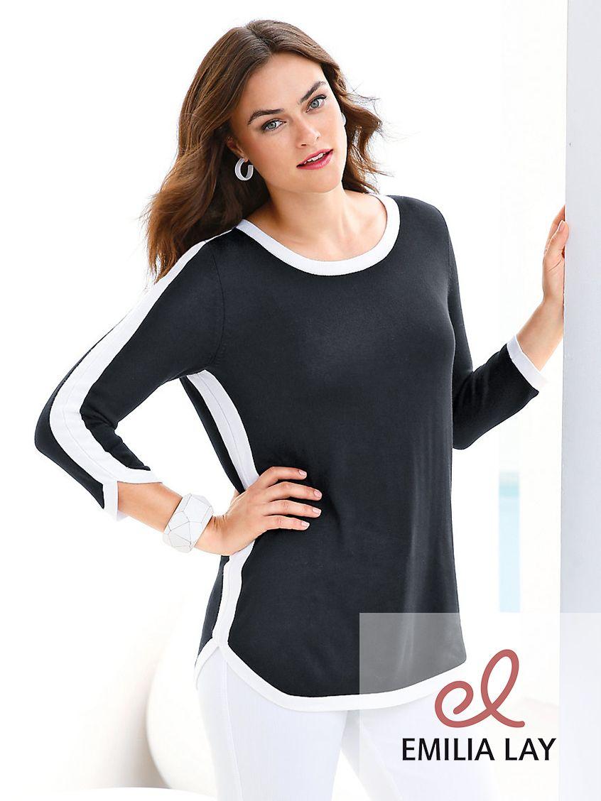 Toller Feinstrick-Pullover von Emilia Lay!