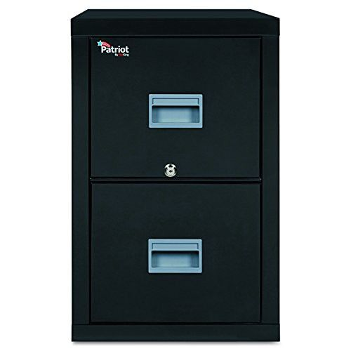 FireKing 2P2131CBL Patriot Insulated Two-Drawer Fire File, 20-3/4w x 31-5/8d x 27-3/4h, Black