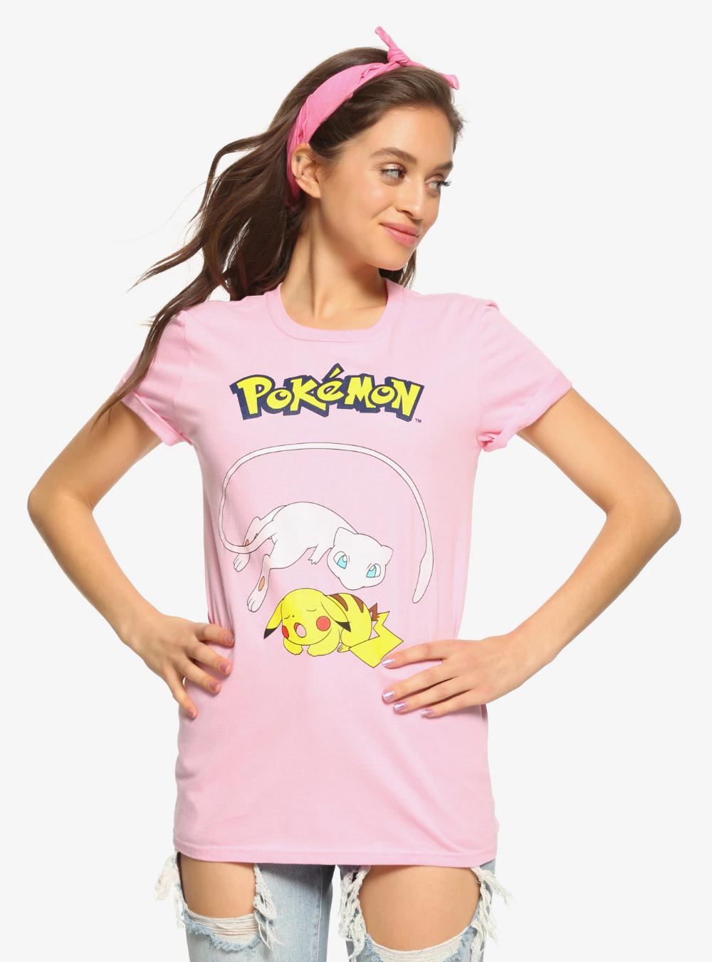 Pok/émon Pikachu /& Eevee Evolutions Girls T-Shirt
