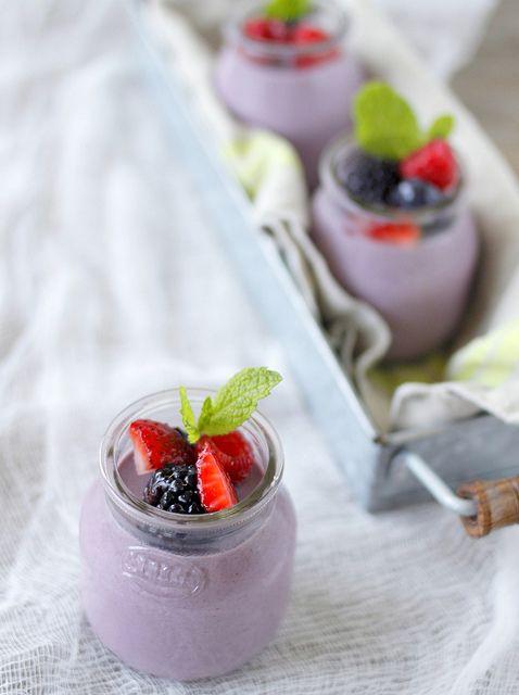 Blackberry Buttermilk Panna Cotta Buttermilk Panna Cotta Panna Cotta New Dessert Recipe