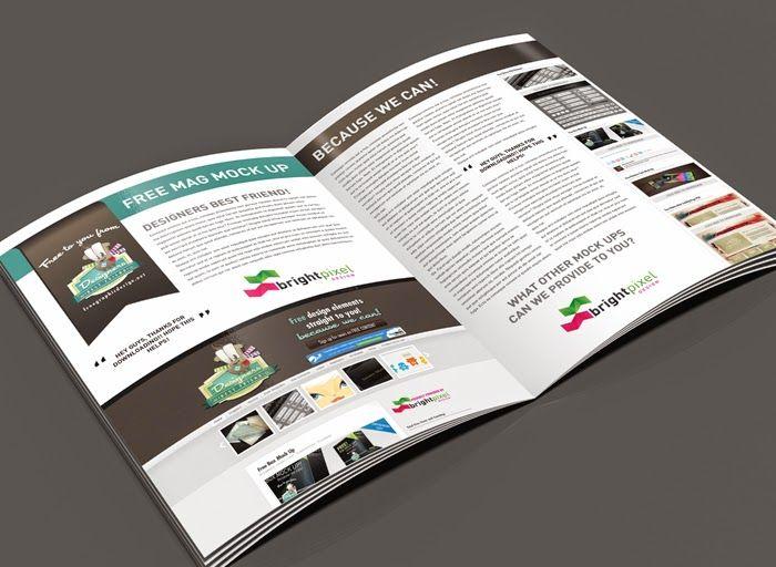 Download Magazine Page Layout Mockup | Photoshop, Sports ...