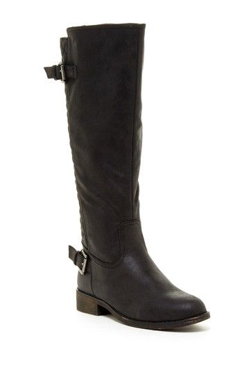 Nadin Quilted Two Strap Riding Boot by Volar Fashion on @HauteLook