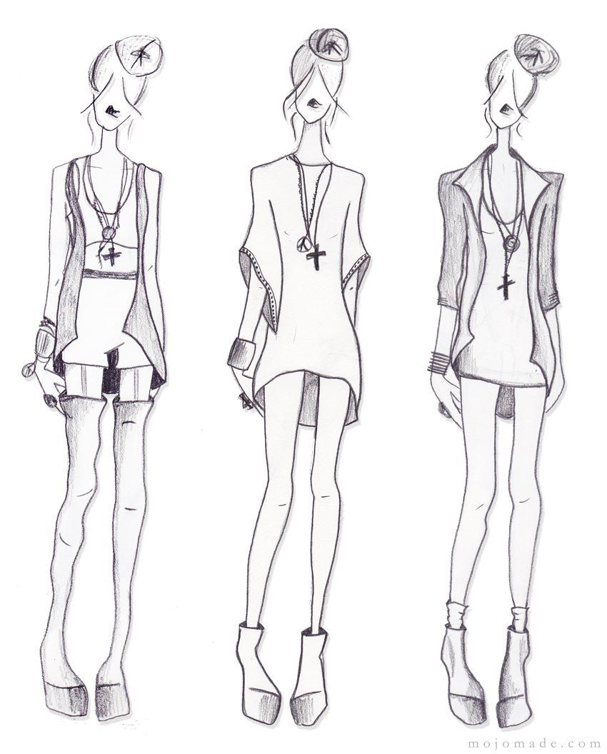 Модели одежды рисунки шаблоны