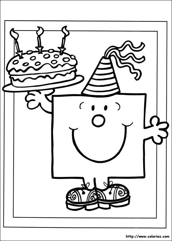 Coloriage D'anniversaire Pour tonton Lovely Dessin A Imprimer Anniversaire tonton | Coloriage ...