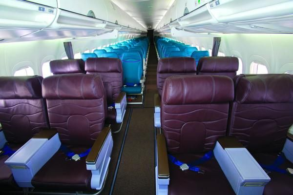 New Makeover For Hawaiian Airlines B 717s Hawaiian Airlines Cabin Design First Class Seats