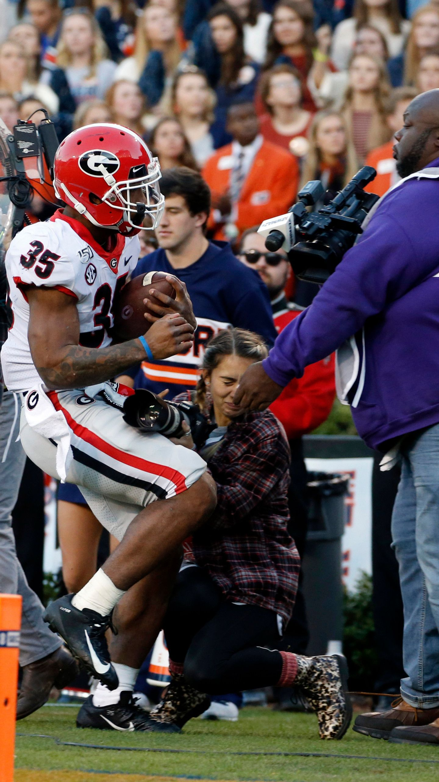 Photographer Hit In Auburn Game Out Of Hospital is