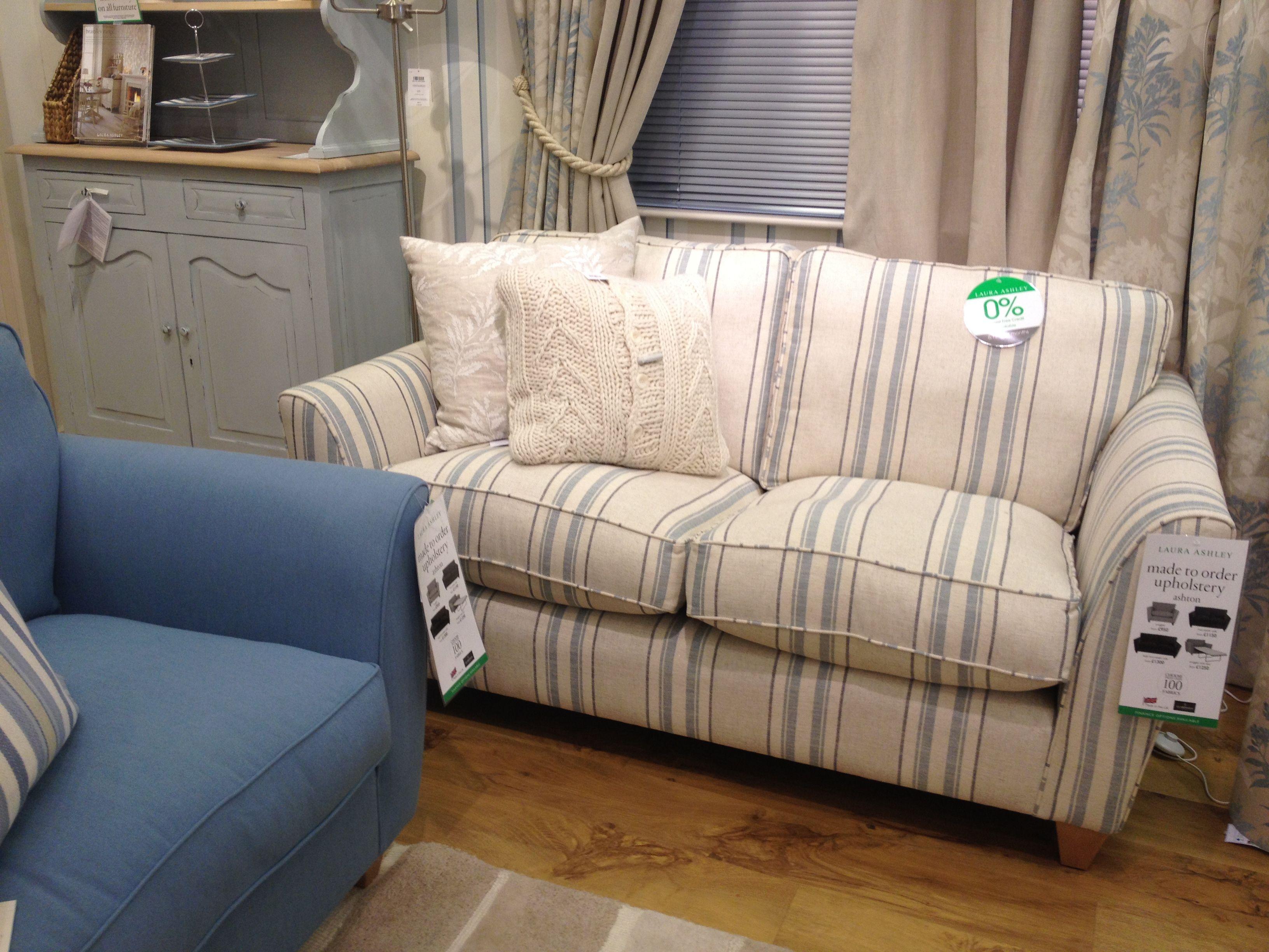 Blue Striped Sofa Uk Ken Jackson Sofas Cork Laura Ashley Chairs Pinterest