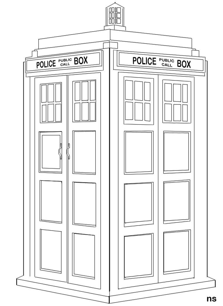 doctor who coloring pages printable the tardis colouring pages - Tardis Coloring Page
