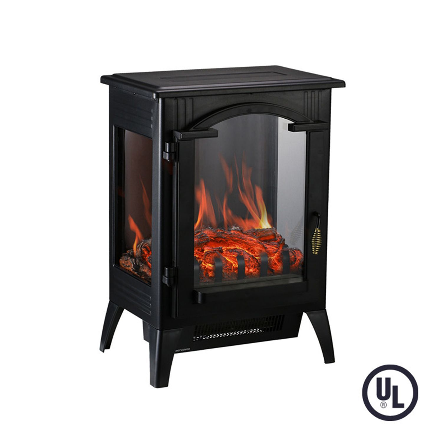 Portable Indoor Home Compact Electric Wood Stove Fireplace Heater With Thermostat For Off Portable Electric Fireplace Electric Wood Stove Wood Stove Fireplace