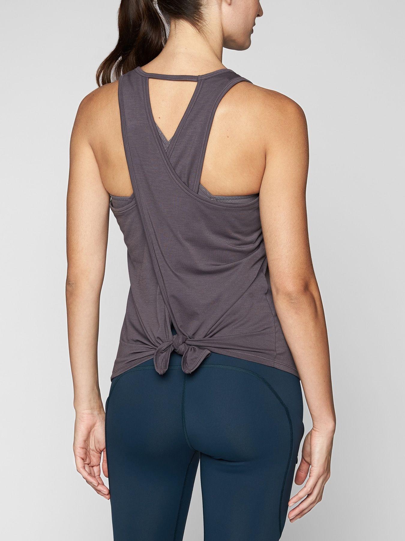 Athleta Essence Tie Back Tank Workout tops for women