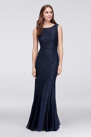 c4fe5269af21 Stretch Lace Bridesmaid Dress with Godet Skirt - Davids Bridal ...