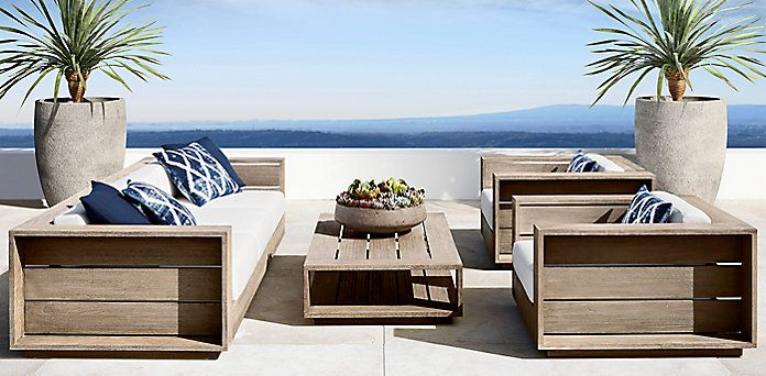 Massimo Collection Weathered Teak Rh Modern Patio Furniture Covers Diy Patio Furniture Teak Patio Furniture