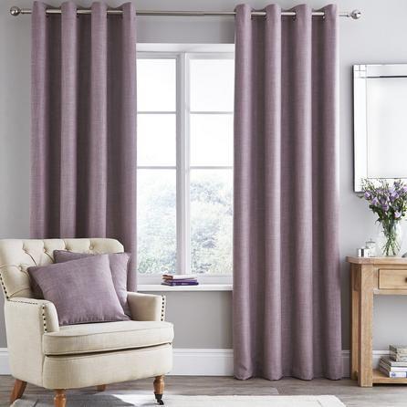 Mauve Aspen Thermal Eyelet Curtains Dunelm Plum Curtains Living Rooms Mauve Living Room Living Room Eyelet Curtains
