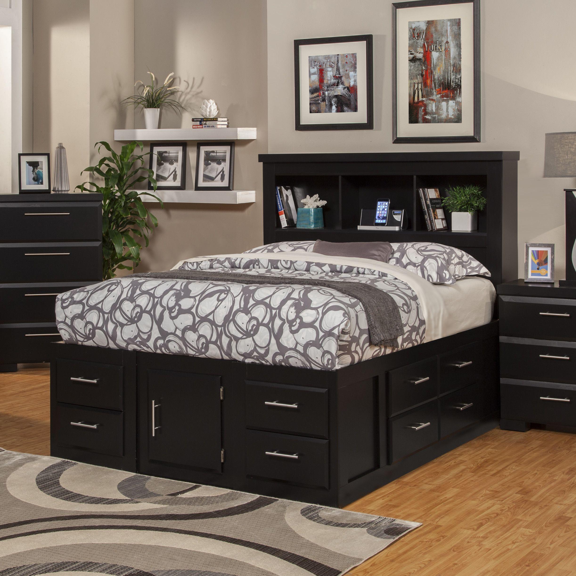 Sandberg Furniture Serenity Storage Platform Bed Beds