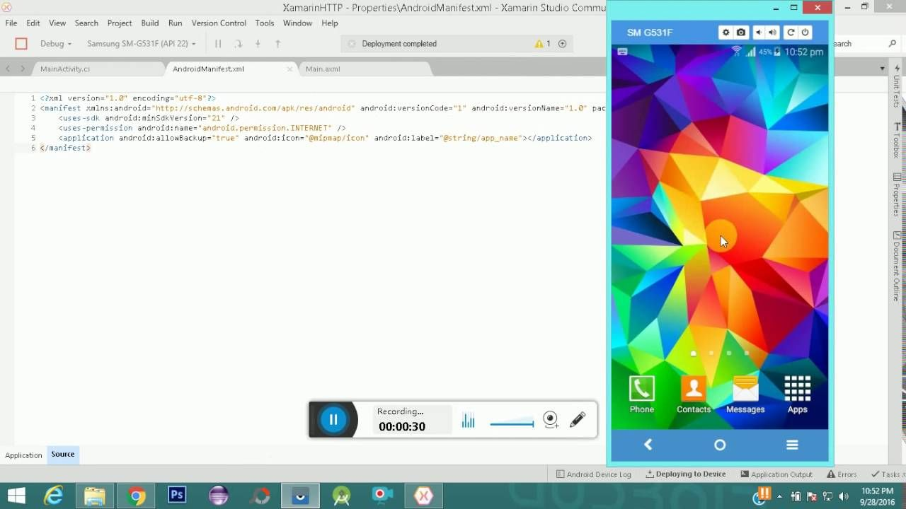 Web Services Example in Android Xamarin | Android Codec