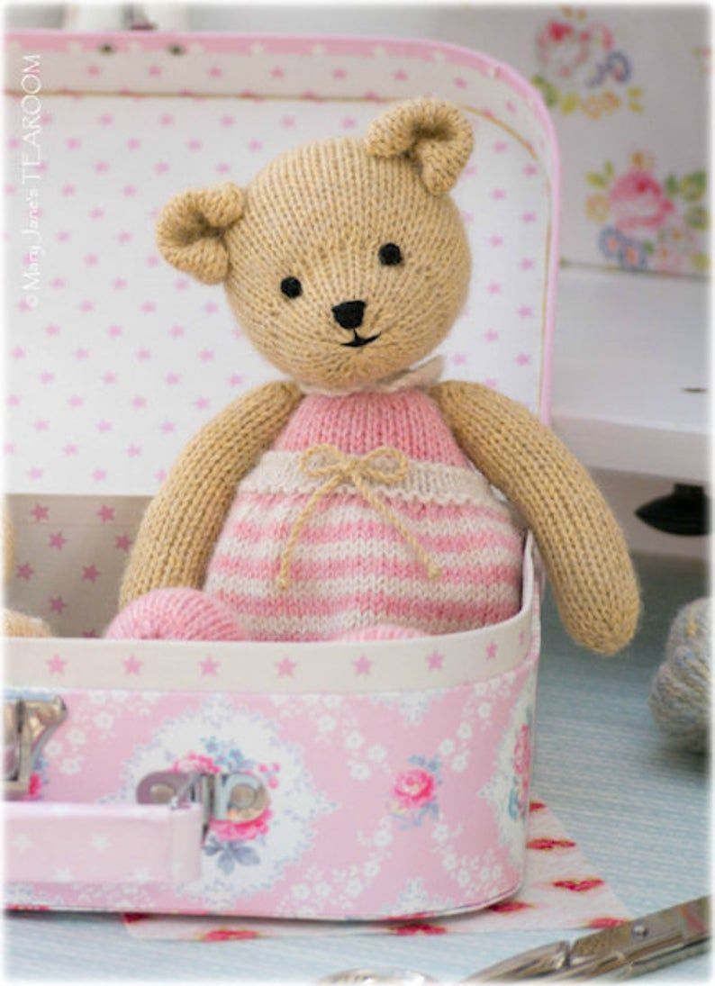 Girl Bear Knitting Pattern/ PDF INSTANT Download/ Method 1 ...