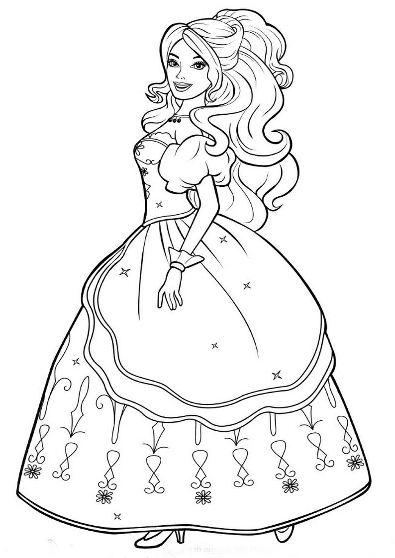 Pin By Renata On Barbie Coloring Barbie Coloring Barbie Coloring Pages Disney Princess Coloring Pages