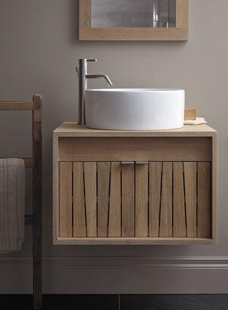 En madera natural, bonito diseño muebles para baño Pinterest