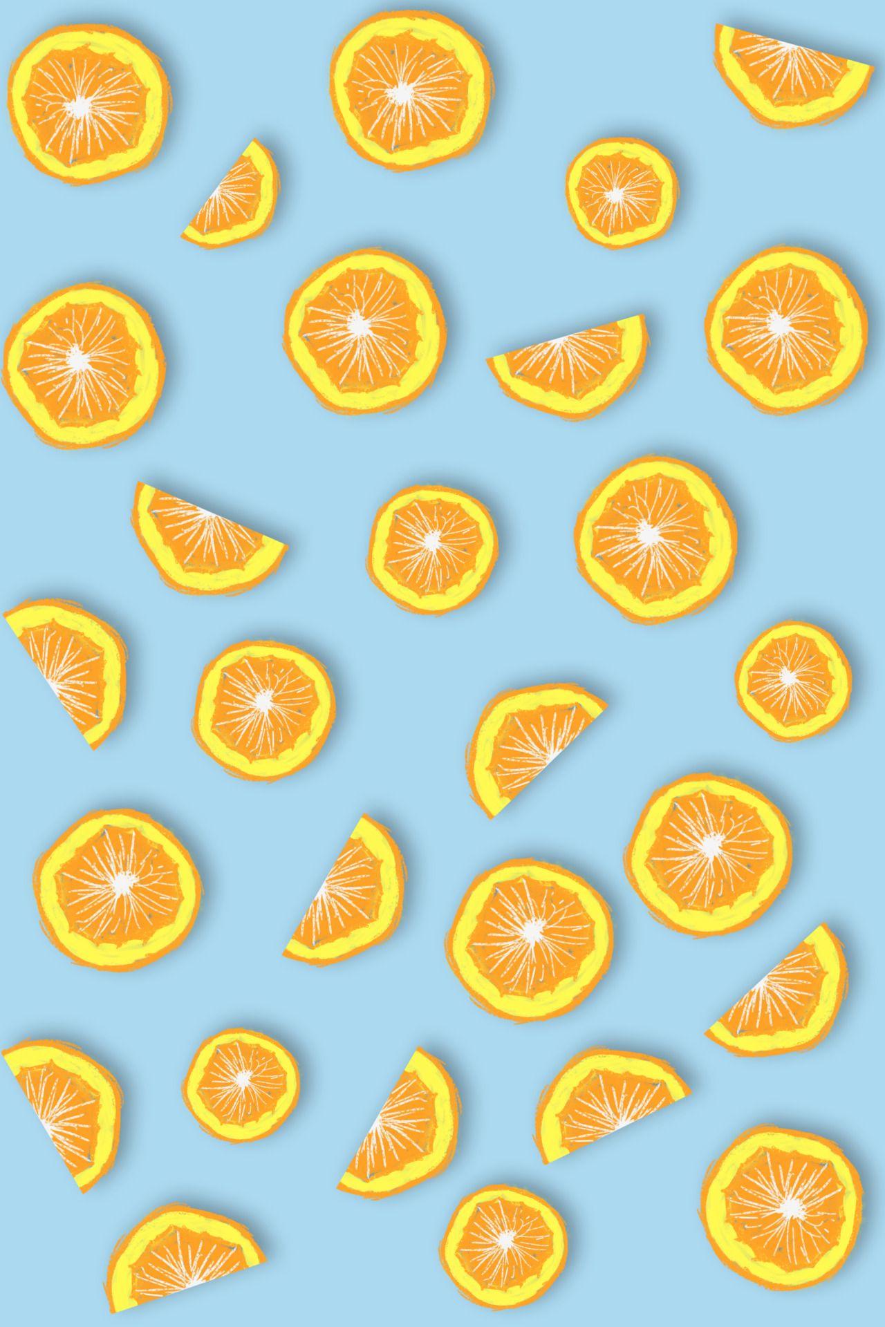 апельсины обои на телефон вертикальные