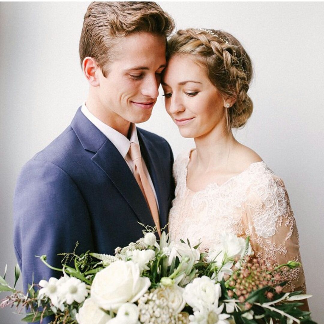modest wedding dress from alta moda.  photo: mandi nelson
