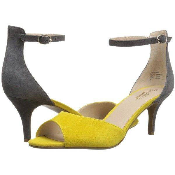 Seychelles Hazel Yellow Grey Suede High Heels 58 Liked On