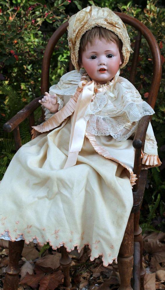 "Beloved Baby Names 2015 Top Ten Baby Names: Kestner's Beloved Wigged Baby ""Hilda"" Sumptuously Costumed"