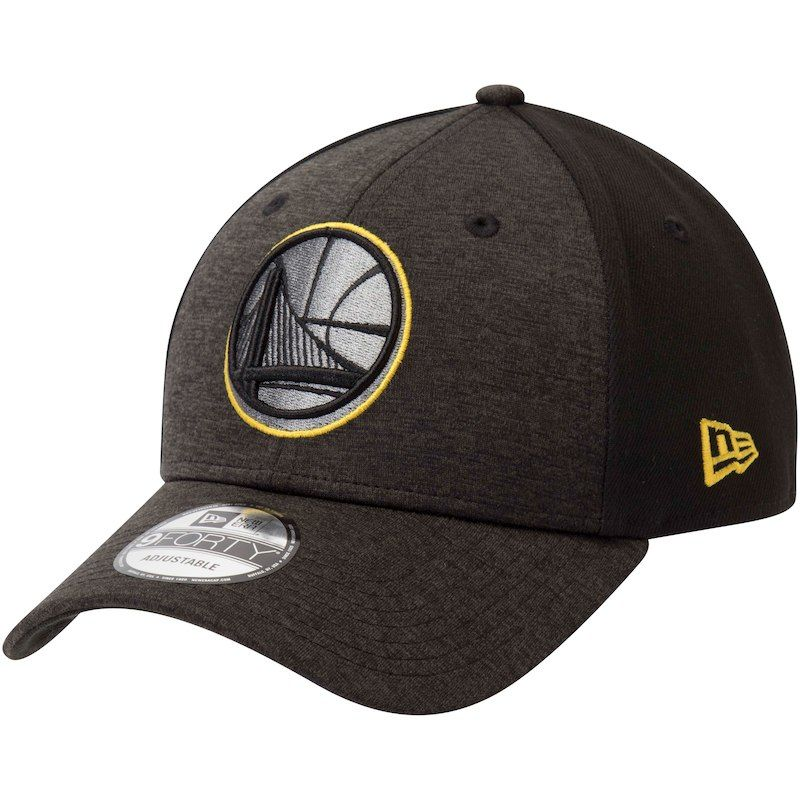 23c81494788711 Golden State Warriors New Era Shaded Front 9FORTY Adjustable Hat –  Heathered Black