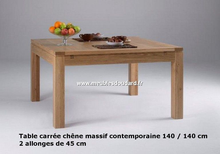 TABLE CARRÉE RÉF AL CHÊNE Idées Pour La Maison Pinterest - Table carree blanc laque avec rallonge pour idees de deco de cuisine