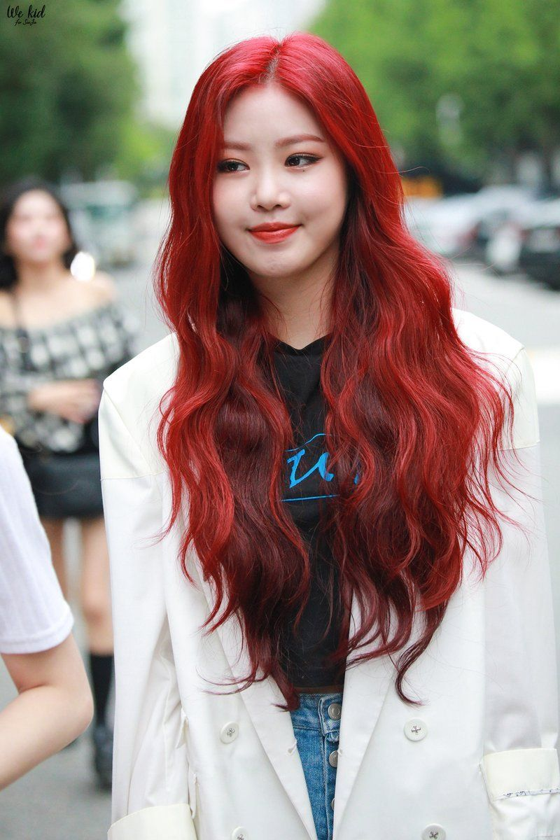 We Kid Do Not Edit Red Hair Kpop Kpop Hair Girls With Red Hair