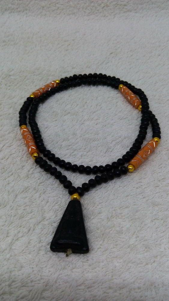 Genuine Thai Buddha Amulet Orang Bead Necklace With Pendant