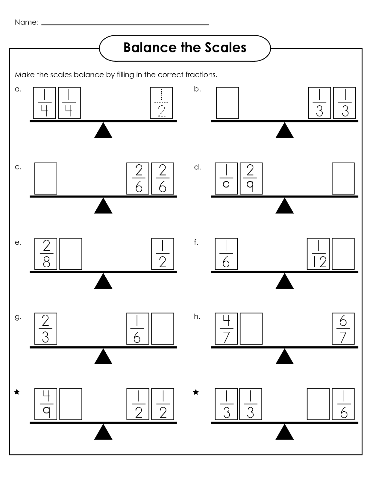 Balance Scale Worksheets for Children | Activity Shelter | Math ...