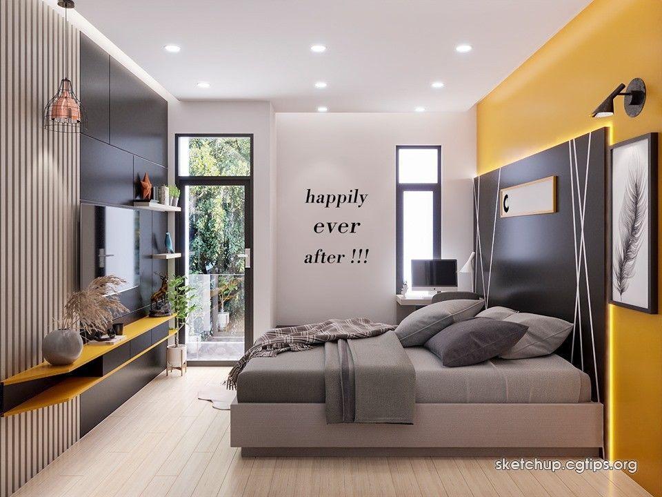 2330 Interior Bedroom Scene Sketchup Model By Quocviphanphan Free