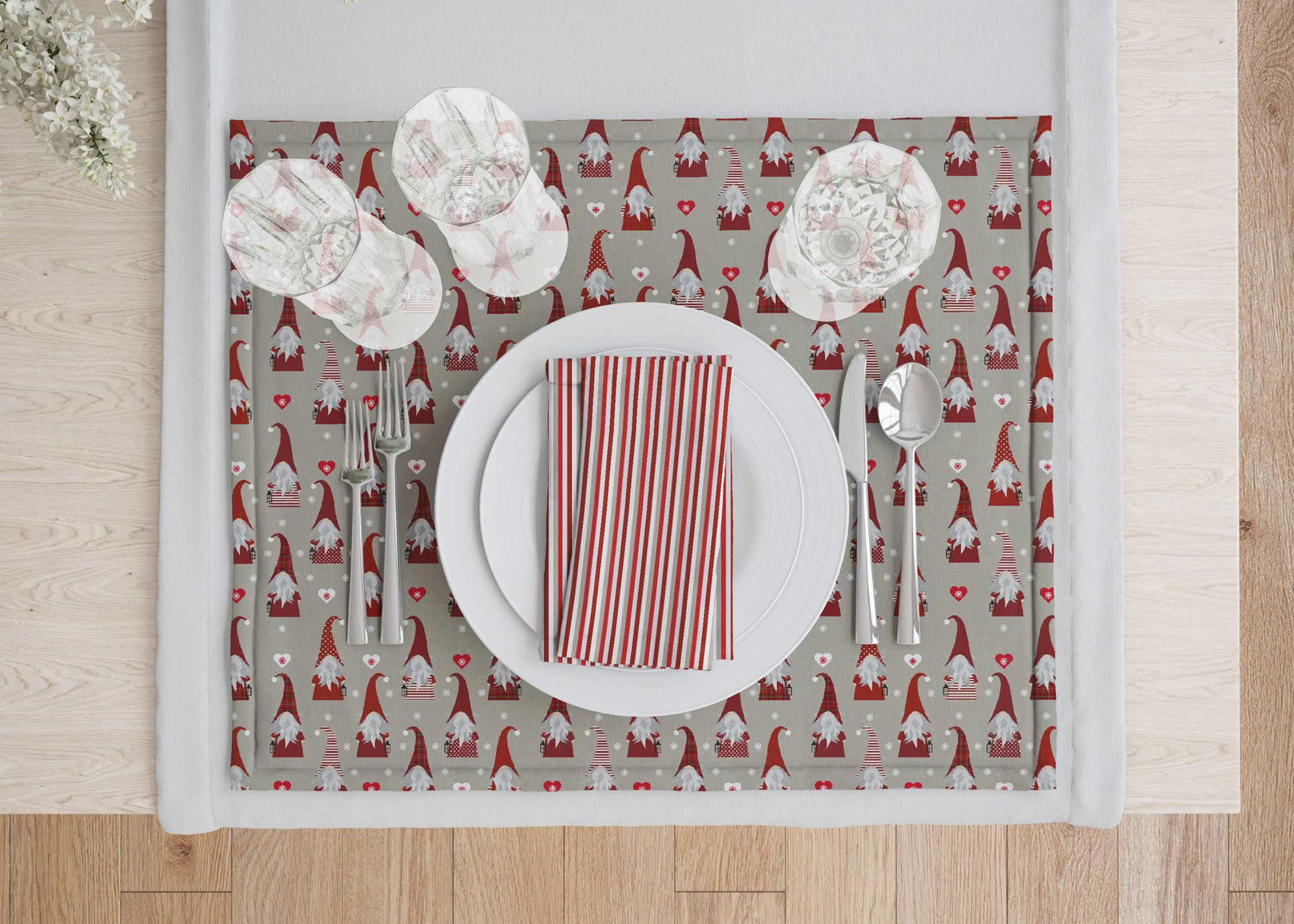 Christmas Placematsscandinavian Pattern Placemat Etsy Christmas Table Decorations Placemat Design Christmas Table