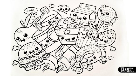 Dibujos Para Colorear Kawaii Dificiles