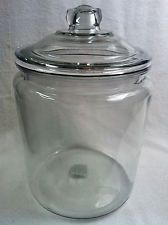 Clear Round/ Glass Jar / LARGE Canister  APOTHECARY TERRARIUM Glass MADE IN USA