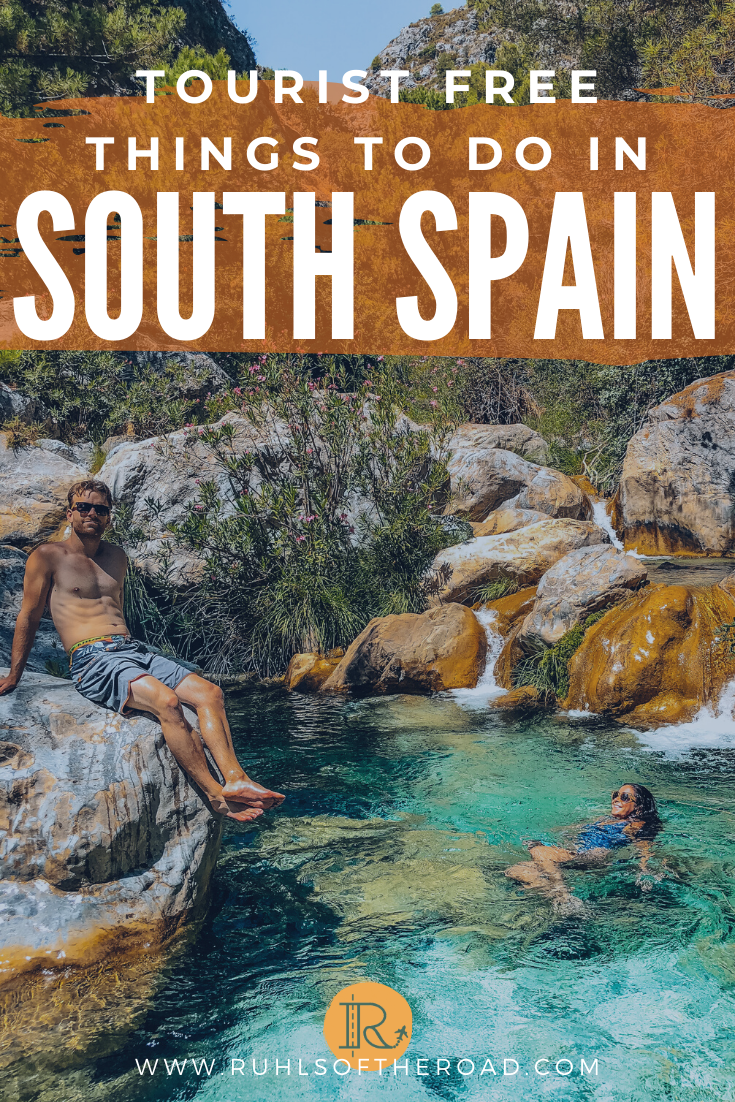 Ultimate south Spain itinerary to visit tourist free, hidden gems on a Europe trip. Spain is one of the best places in Europe! Use these travel Europe tips for traveling Europe on a budget & have an awesome Spain trip that skips the tourist crowds. Go on a Spain vacation to remember! Travel Europe destinations | Where to travel in Europe | places to visit in Europe | Spain trave | Western Europe | Hikes in Europe | Places to visit in Europe | Travel to Spain | Travel Europe tips #spain #europe