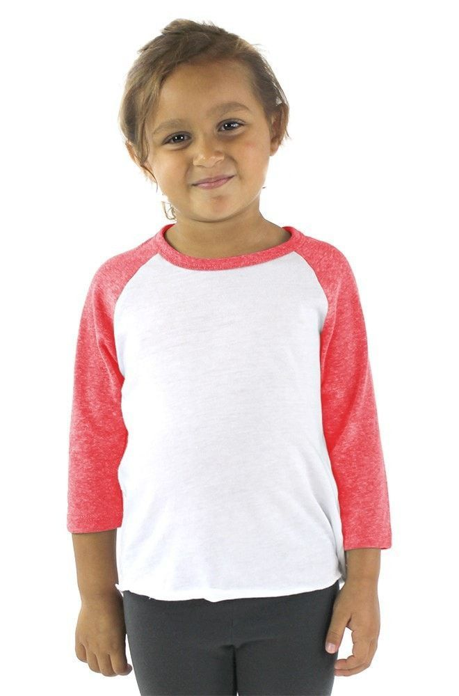 Toddlers/Kids Unisex Poly-Cotton 3/4 Sleeve Raglan Shirt - Be Kind To Animals
