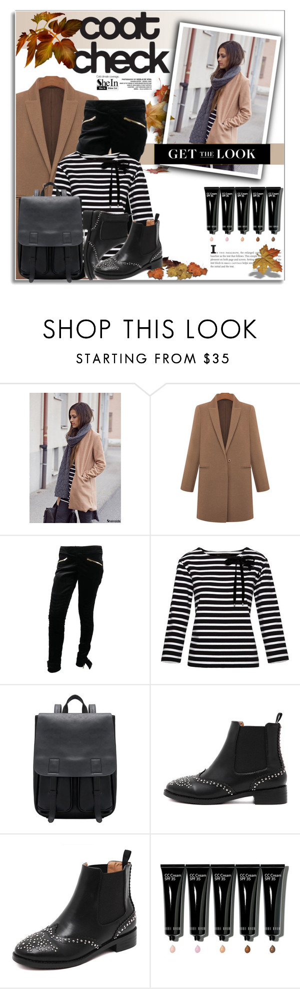 """Untitled #2192"" by deeyanago ❤ liked on Polyvore featuring Gucci, Marc by Marc Jacobs, Bobbi Brown Cosmetics, GetTheLook, Sheinside and coolcoat"