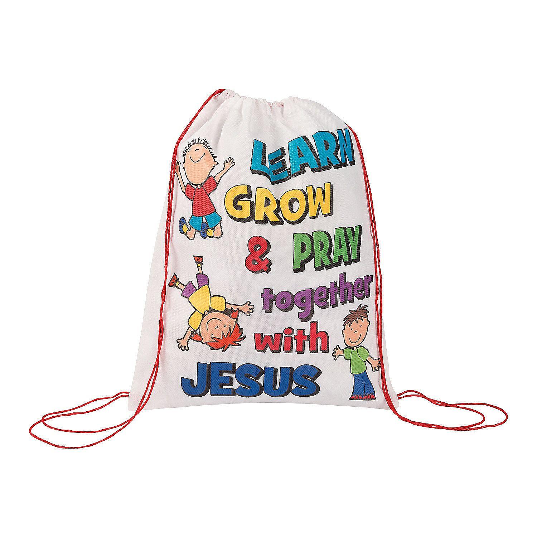 Sunday School Drawstring Backpacks - OrientalTrading.com