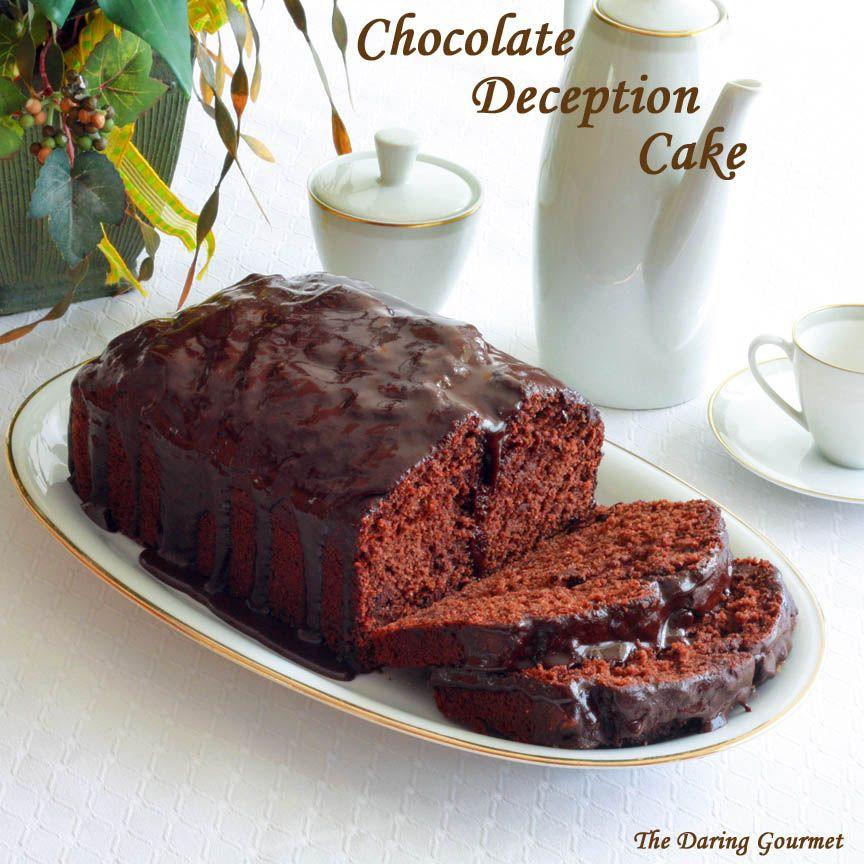 Chocolate Deception Cake Recipe The Daring Gourmet Recipe Cake Recipes Healthy Chocolate Cake Chocolate Zucchini Cake Recipe