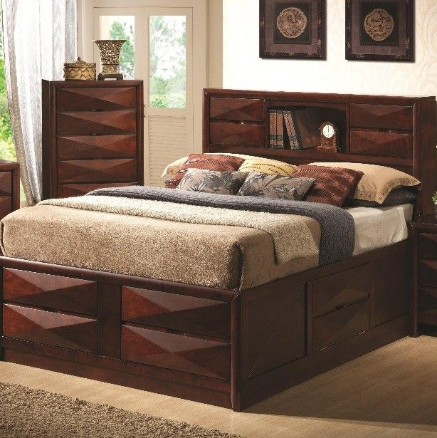 Coaster Furniture Bree King Transitional Storage Bed With Eight Drawers 202711ke Great Furniture Deal Furniture Mattress Furniture Coaster Furniture