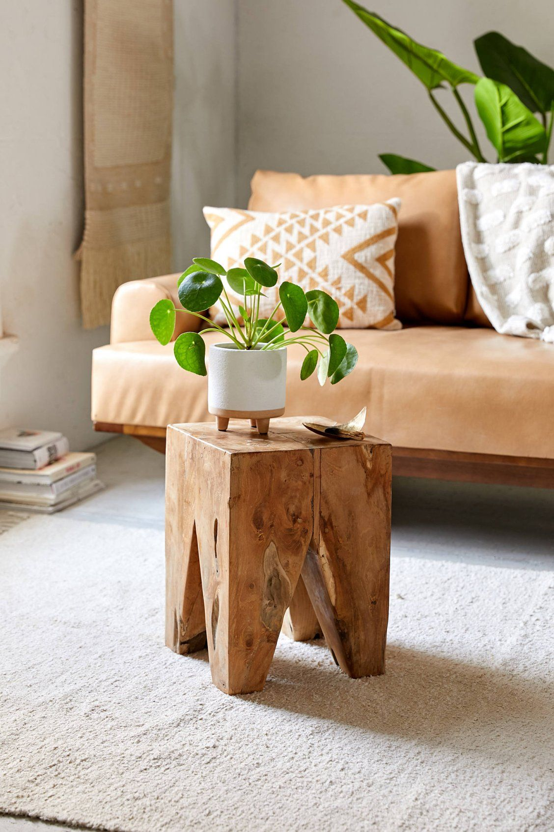 Wood Block Square Stool Urban Outfitters Wood Blocks Square Side Table Wood Wood Side Table Diy #side #stools #for #living #room