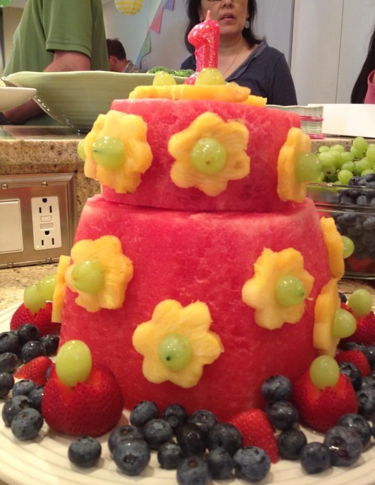 Fruit cake Baby birthday Pinterest Fun birthday cakes