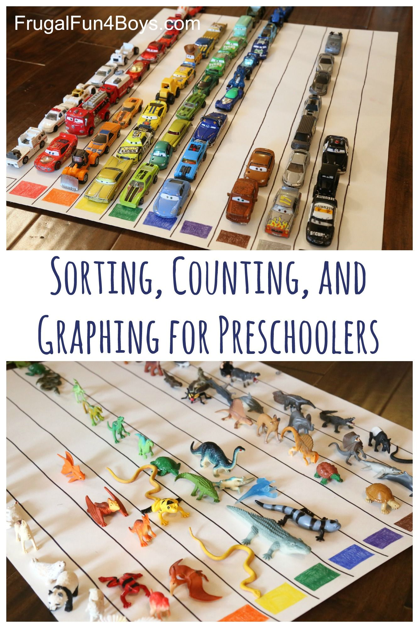 Sorting Counting And Graphing For Preschoolers Frugal Fun For Boys And Girls Preschool Preschool Activity Preschool Activities [ 2000 x 1333 Pixel ]