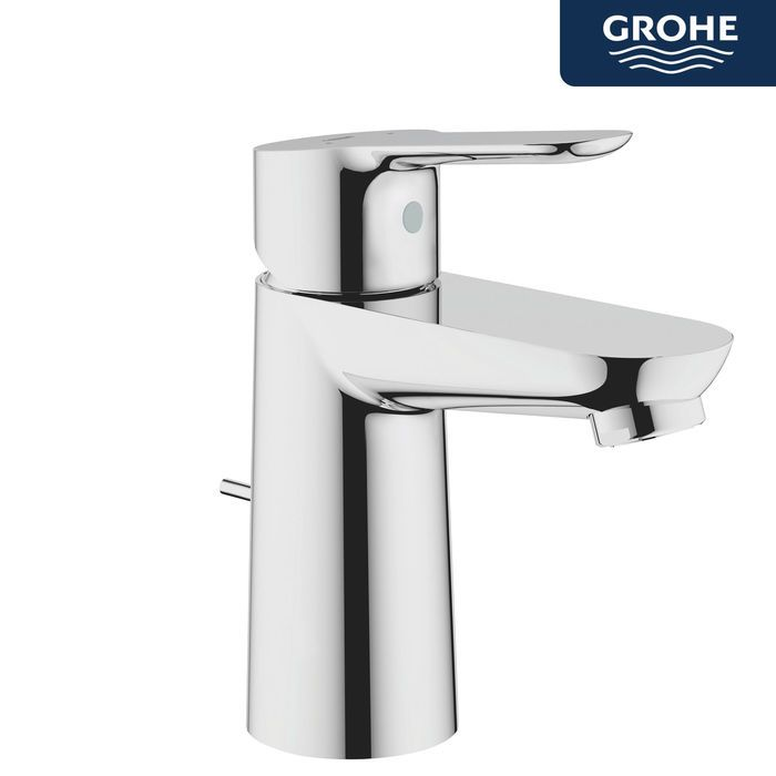 Grohe BauEdge Basin Mixer Tap With Pop Up Waste | Pinterest | Basin ...