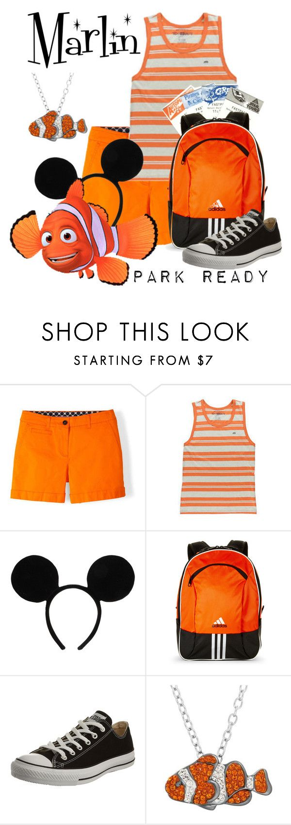 """Marlin: Park Ready"" by laniocracy on Polyvore featuring Boden, Disney, adidas, Converse, Animal Planet and disneyland"