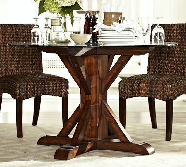 Ava Round Fixed Dining Table Potterybarn Love This One